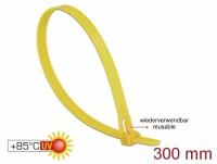 Kabelbinder wiederverwendbar hitzebeständig L 300 x B 7,6 mm 100 Stück gelb