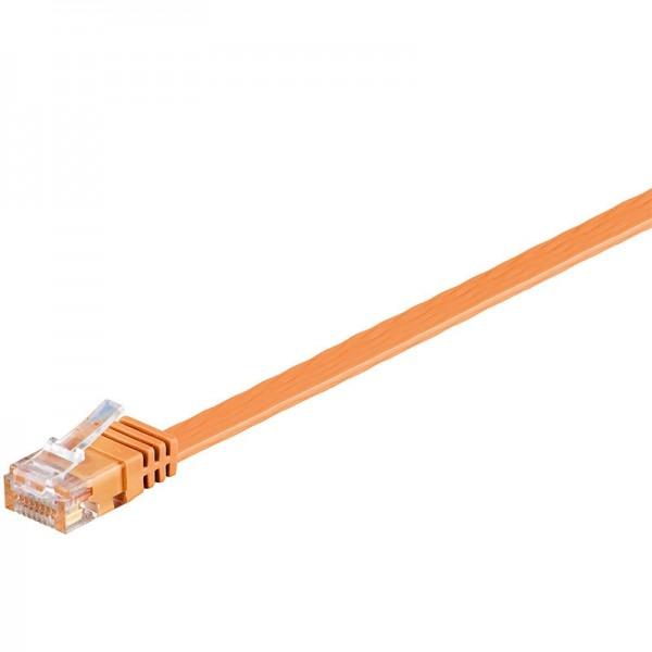 CAT 6 Netzwerkkabel, U/UTP, flach, orange