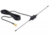 ISM 433 MHz Antenne SMA 2,5 dBi omnidirektional starr schwarz Klebemontage