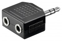 Y-Adapter 1x 3,5mm Klinkenstecker – 2x 3,5mm Klinkenbuchse 3 polig