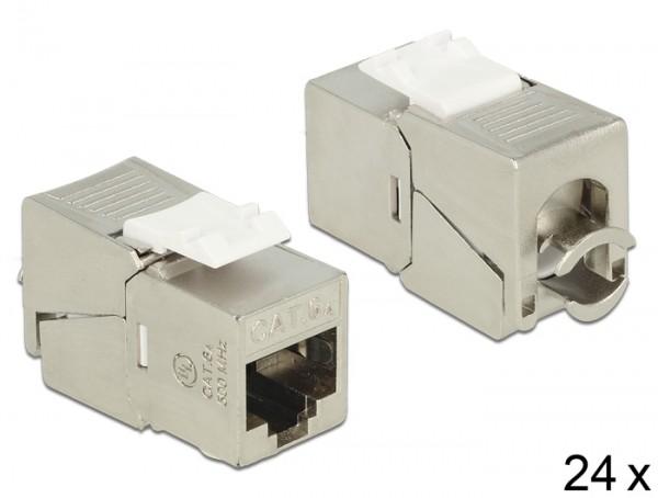 Keystone RJ45 Buchse > LSA werkzeugfrei Cat.6A kompakt - Set mit 24 Stück