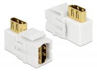 Keystone HDMI Buchse > HDMI Buchse 90° weiß