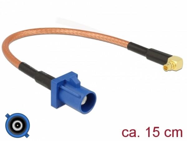 Antennenkabel FAKRA C Stecker - MMCX 90° Stecker RG-316 15 cm