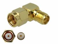 Adapter RP-SMA Stecker zu RP-SMA Buchse 90° 3 GHz