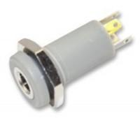 Einbau-Klinkenbuchse, 3,5mm, 4 polig, Kunststoffausführung, Lötmontage