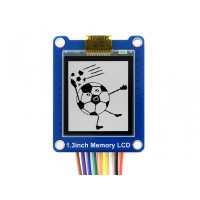 """1.3"""" 144x168 Bicolor LCD Modul mit eingebettetem Speicher, SPI Interface, Low Power"""