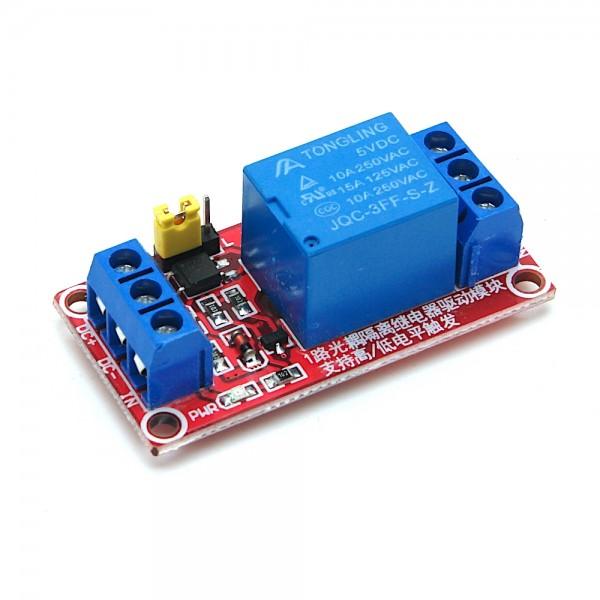 5V 1 Kanal Relais Modul mit definierbarem Schaltsignal (High/Low)