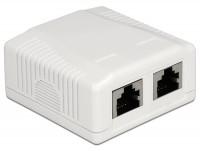 Netzwerk Anschlussdose 2 Port Cat.6A LSA
