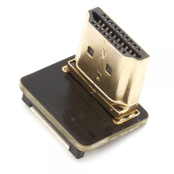 HDMI Typ A Stecker, links gewinkelt, für DIY HDMI Kabel