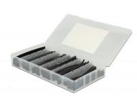 Schrumpfschlauch Sortiment 100-teilig schwarz in Kunststoffbox