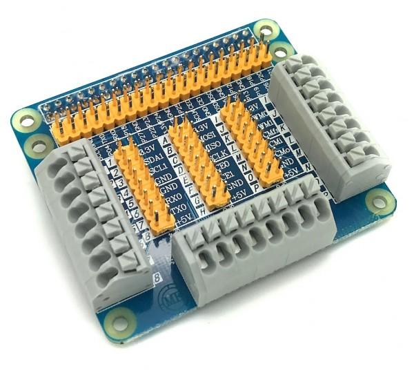 GPIO Breakout HAT mit Federkraftklemmen für Raspberry Pi