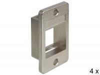 Keystone Halterung für Geräteeinbau - Set mit 4 Stück