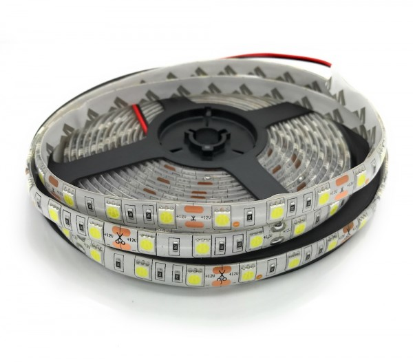 LED-Stripe, flexibel, 60 LEDs/m 5050, IP65, weiß, 5m Rolle