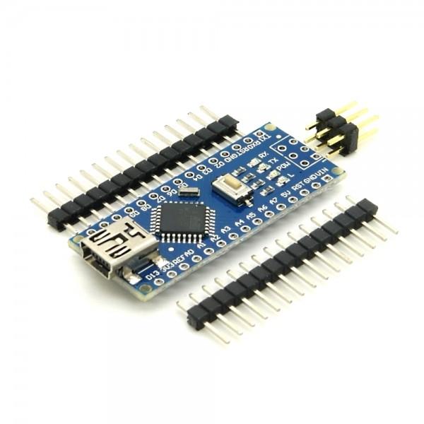 kompatibler Arduino Nano mit Atmel Mega 328P Prozessor & CH340G USB-Chipsatz