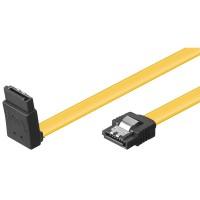 S-ATA Kabel 1.5GBits / 3GBits / 6GBits 90° nach oben gewinkelt gelb
