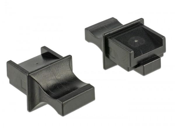 Staubschutz für RJ45 Buchse mit Griff 10 Stück schwarz