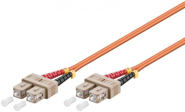 LWL Kabel Multimode OM2, SC-Stecker (UPC) > SC-Stecker (UPC), orange
