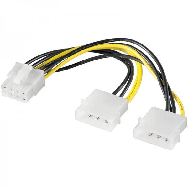 Power Kabel 2x 5.25 Stecker - PCI Express 8 pin