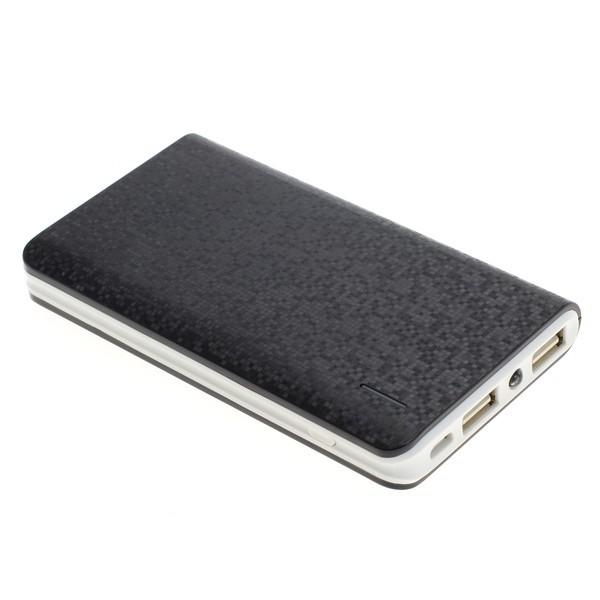 """Powerbank """"Slim"""" mit 8.000mAh und 2 USB Ausgängen schwarz"""