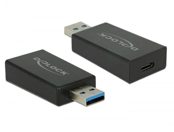 Konverter USB 3.1 Gen 2 Typ-A Stecker - USB Typ C Buchse Aktiv schwarz