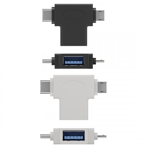USB 3.0 SuperSpeed OTG Adapter, A-Buchse – Micro B-Stecker / C-Stecker