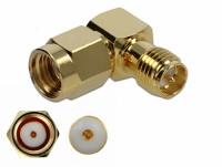 Adapter RP-SMA Stecker zu RP-SMA Buchse 90° 10 GHz