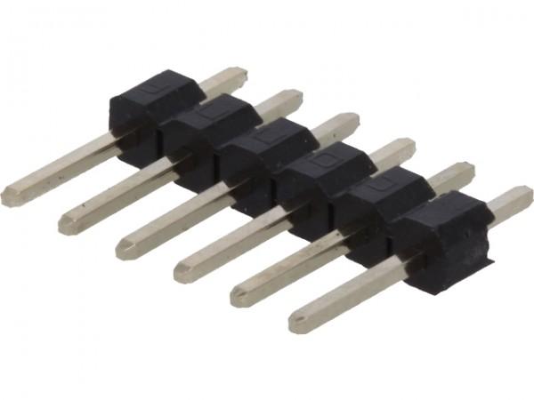 Stiftleiste, 1x 6-polig, RM 2,54, gerade