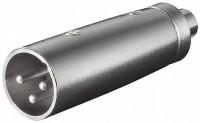XLR-Adapter, XLR-Stecker (3-Pin) - Cinch-Buchse