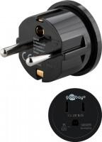 Reiseadapter, US/Japan-Buchse (Typ B, NEMA 5-15, 3-polig) - Schutzkontaktstecker (Typ F, CEE 7/4)