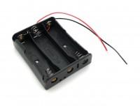 Batteriehalter für 3x 18650 mit Anschlusskabel