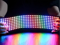 Biegsame 8x32 NeoPixel RGB LED Matrix