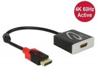 Adapter DisplayPort 1.2 Stecker - HDMI 2.0 Buchse schwarz 4K 60Hz Aktiv
