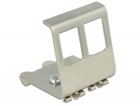 Keystone Metall Halterung 2 Port für Hutschiene