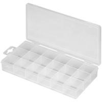 Plastikleerbox mit 18 Fächern