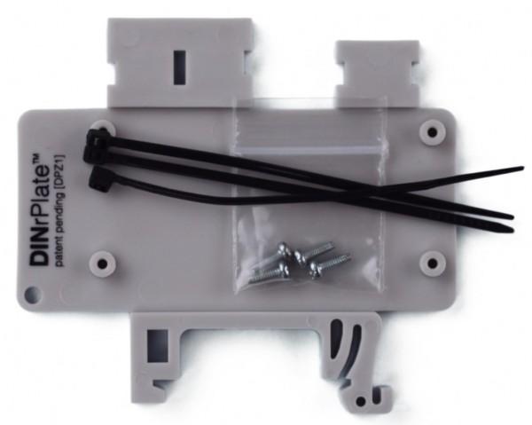 DINrPlate DPZ1 - Hutschienenhalter für Raspberry Pi Zero, grau