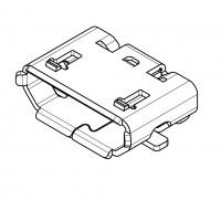 Micro USB Typ B Buchse, SMD, SMT Montage
