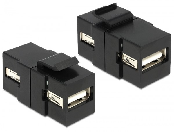 Keystone USB2.0 A Buchse > USB2.0 A Buchse schwarz