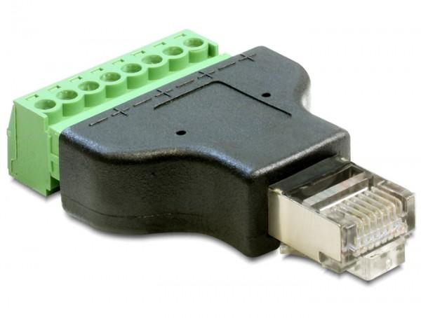 Adapter Terminalblock - RJ45 Stecker