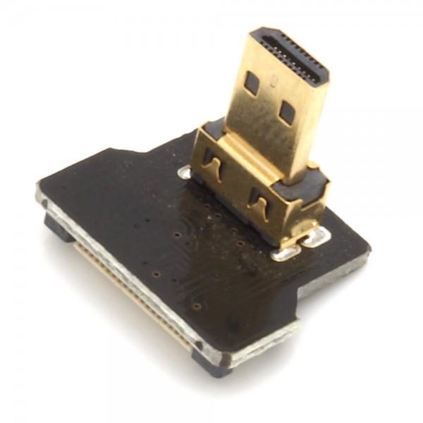 Micro HDMI Typ D Stecker, rechts gewinkelt, für DIY HDMI Kabel