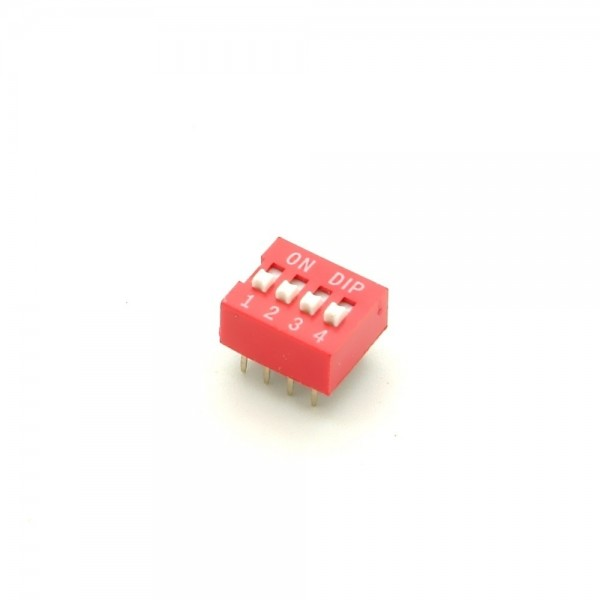 DIP-Schalter, 4-polig,rot