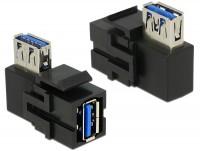 Keystone USB3.0 A Buchse > USB3.0 A Buchse 90° schwarz