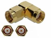 Adapter RP-SMA Stecker zu RP-SMA Stecker 90° 10 GHz
