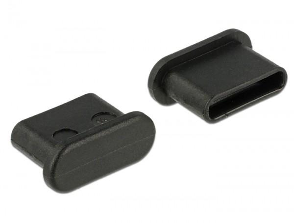 Staubschutz für USB Type-C Buchse ohne Griff 10 Stück schwarz