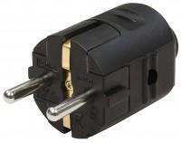 Schutzkontakt-Stecker, schwarz
