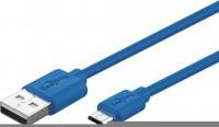 USB 2.0 Hi-Speed Kabel A Stecker - Micro B Stecker, 1,0m, blau