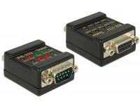 RS-232 Tester 9 pol. D-Sub Buchse - 9 pol. D-Sub Stecker