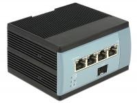 Gigabit Ethernet Switch 4 Port PoE + 1 SFP für Hutschiene