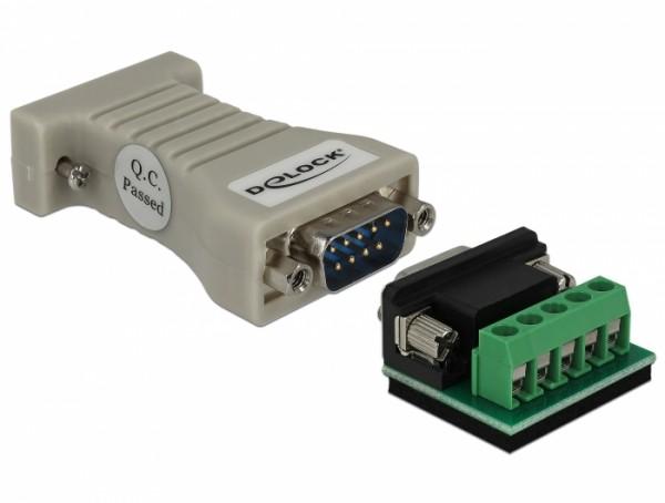 Konverter 1x Seriell RS-232 DB9 Buchse - 1x Seriell RS-422/485 DB9 Stecker mit ESD Schutz 15 kV
