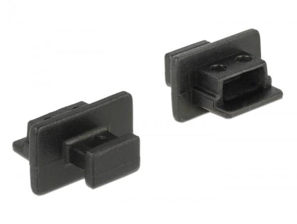 Staubschutz für USB 2.0 Mini-B Buchse mit Griff 10 Stück schwarz