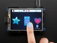 "Adafruit PiTFT Plus 480x320 3.5"" TFT, Resistiver Touchscreen"